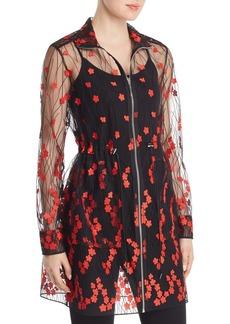 Elie Tahari Nicolette Floral Embroidered Mesh Jacket