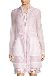 Elie Tahari Nicolette Silk Coat