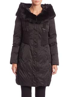 Elie Tahari Nina Fur-Trimmed Puffer Coat