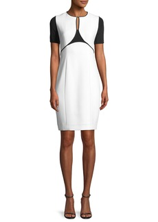 Elie Tahari Nixie Keyhole Sheath Dress