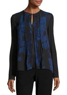Elie Tahari Northstar Holly Long-Sleeve Printed Silk Blouse