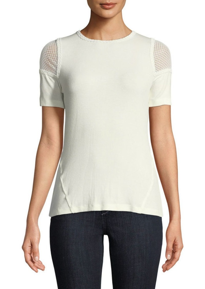 f2e933bc3d073 Elie Tahari Elie Tahari Noshra Short-Sleeve Knit Blouse Now  96.00