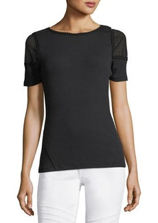 Noshra Short-Sleeve Knit Blouse