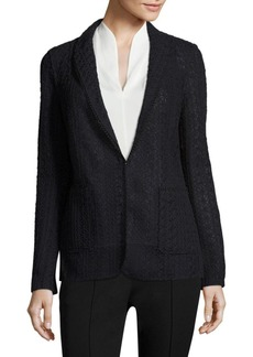 Elie Tahari Notch Lapel Knit Jacket
