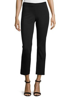 Elie Tahari Nova Double-Knit Slim Ankle Pants