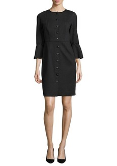Elie Tahari Oceana Bell Sleeve Dress