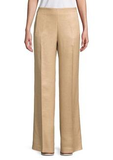 Elie Tahari Odette Zip-Pocket Wide-Leg Pants