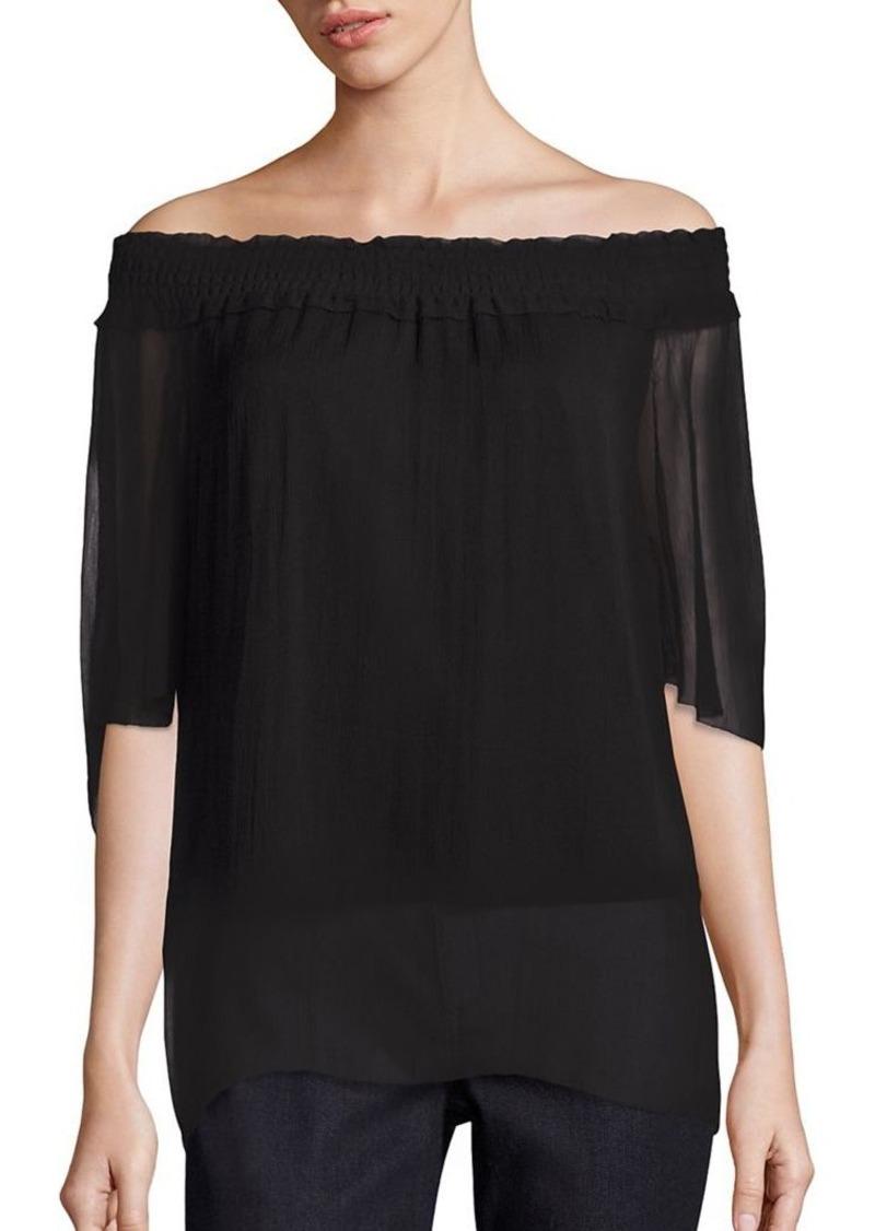 c451948f7e04 Elie Tahari Elie Tahari Off-the-Shoulder Silk Top | Casual Shirts