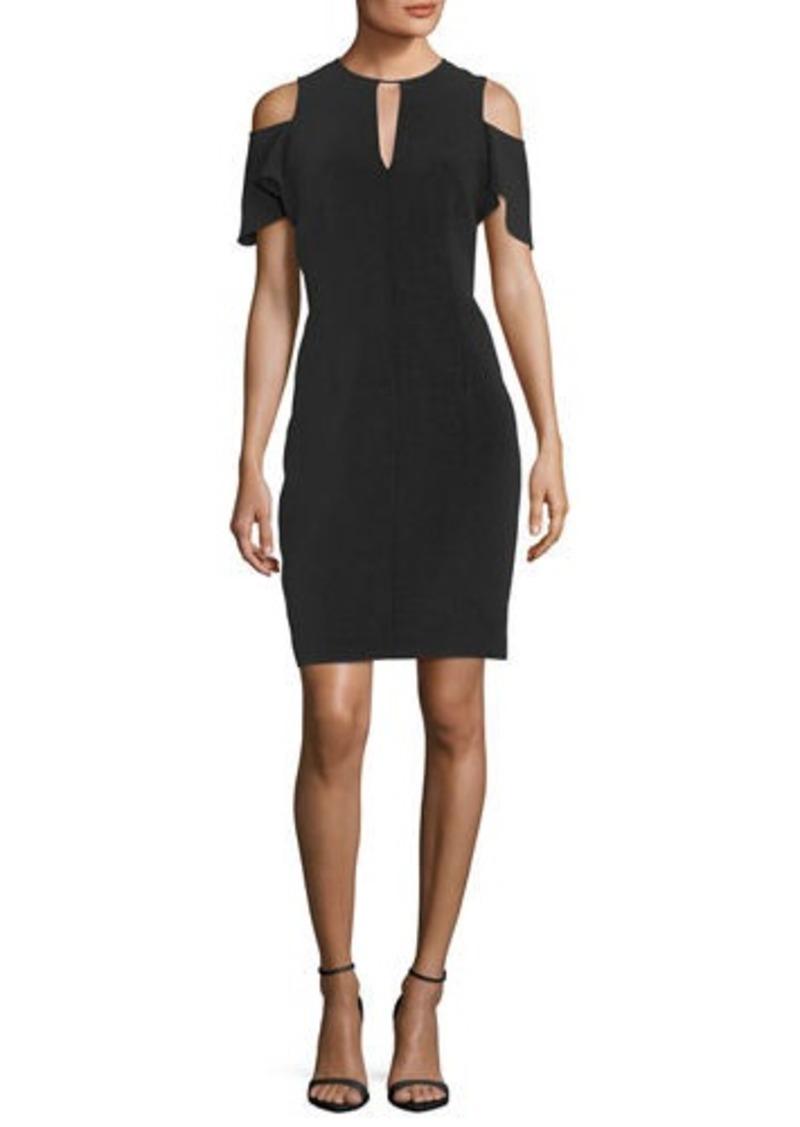Elie Tahari Oleandra Cold-Shoulder Dress