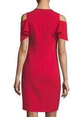 Elie Tahari Oleandra Cold-Shoulder Dress