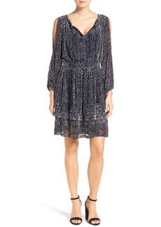 Elie Tahari 'Olsen' A-Line Devoré Velvet Dress