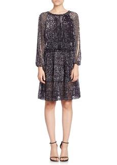 Elie Tahari Olsen Silk Burnout Dress
