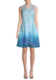 Elie Tahari Ombre Textured Dress