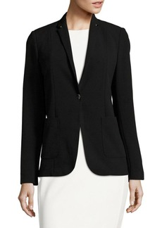 Elie Tahari One-Button Blazer