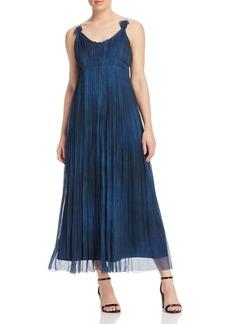Elie Tahari Opal Pleat Maxi Dress