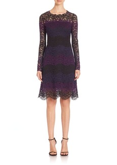 Elie Tahari Ophelia Colorblock Lace Dress