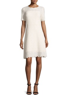 Elie Tahari Ophelia Half-Sleeve Lace Dress