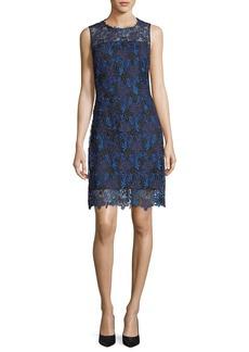 Elie Tahari Ophelia Sleeveless Floral Lace Dress