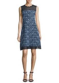 Elie Tahari Ophelia Sleeveless Floral-Print A-Line Dress