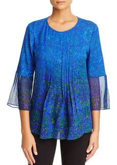 Elie Tahari Orion Pleated Bell Sleeve Blouse - 100% Exclusive