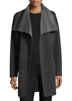 Elie Tahari Oversized Two-Tone Belted Wool Coat