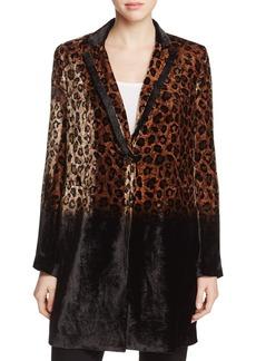 Elie Tahari Pam Cheetah Print Coat