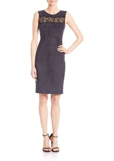 Elie Tahari Parker Lace Inset Sheath Dress