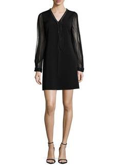 Elie Tahari Pencey Long-Sleeve Shift Dress