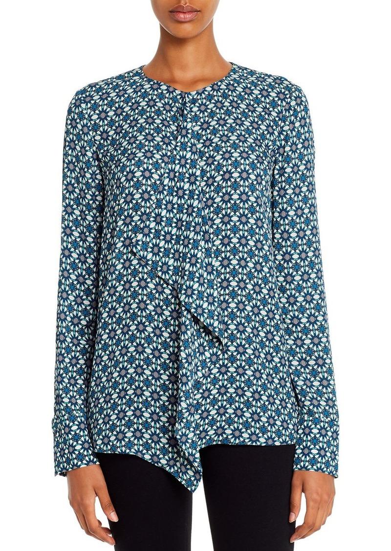 Elie Tahari Pernilla Kaleidoscope Ruffled Shirt