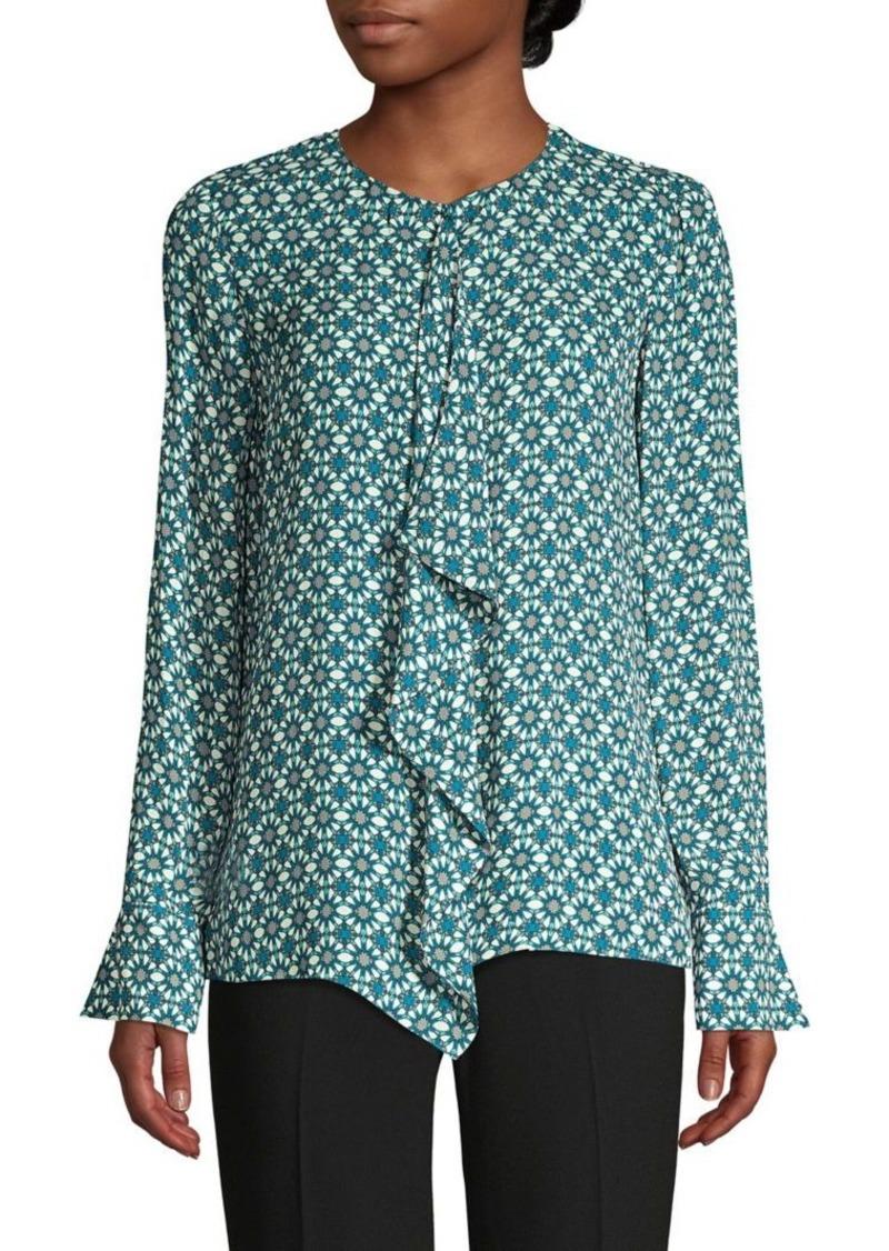 Elie Tahari Pernilla Ruffle Printed Shirt