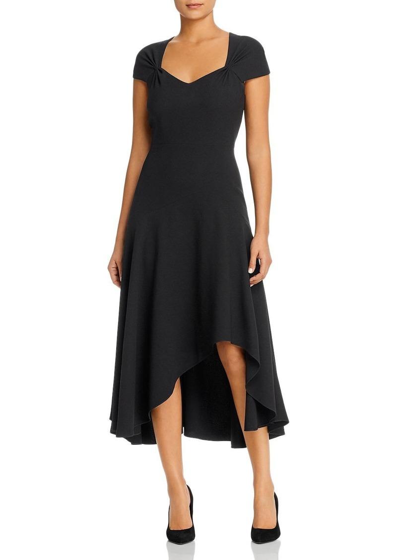 Elie Tahari Phoenix Crepe Asymmetric-Hem Dress