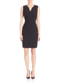 Elie Tahari Pleated Sheath Dress