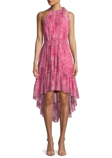 Elie Tahari Primrose Floral-Print Silk Dress