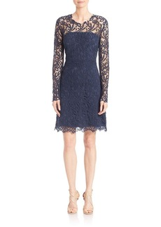 Elie Tahari Priscilla Cotton Lace Dress