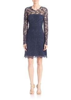 Elie Tahari Priscilla Cotton Lace Dress