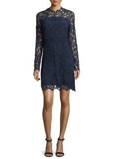 Elie Tahari Priscilla Long-Sleeve Lace Cocktail Dress