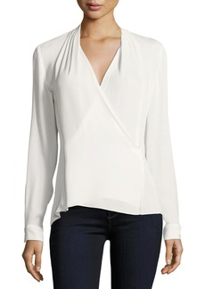 Elie Tahari Quinevere V-Neck Blouse