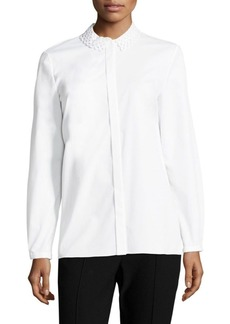 Elie Tahari Raegan Lace-Collar Blouse