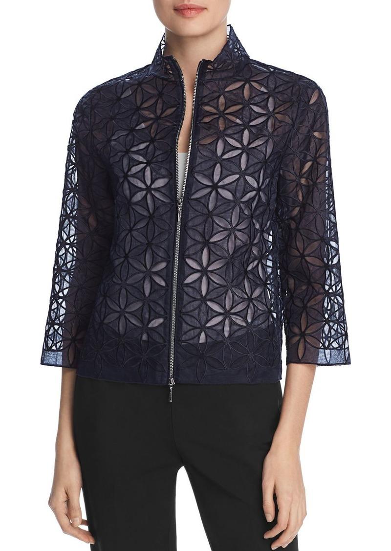 Elie Tahari Rainer Silk Floral Lace Jacket