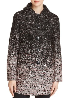 Elie Tahari Rakel Ombr�-Tweed Coat