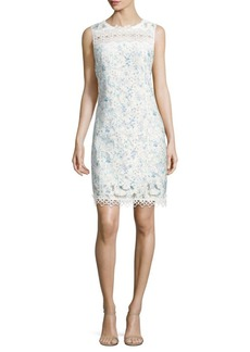 Elie Tahari Ramira Printed Scalloped Dress