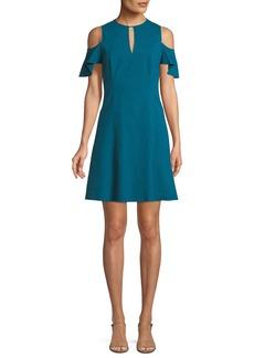 Elie Tahari Raylan Cold-Shoulder Mini Dress
