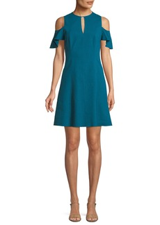 Elie Tahari Raylan Cold-Shoulder Mini Dress