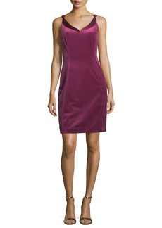 Elie Tahari Rena Sleeveless Velvet Cocktail Dress