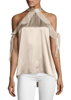 Elie Tahari Renna Cold-Shoulder Blouse