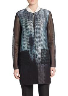 Elie Tahari Reversible Mesh-Detail Jacket
