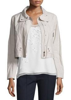 Elie Tahari Ripley Zip-Front Cropped Jacket