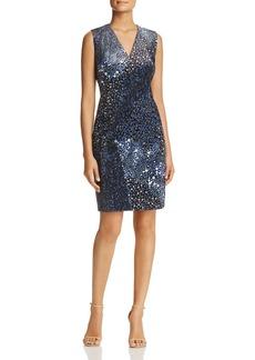 Elie Tahari Roanna Floral Velvet Sheath Dress - 100% Exclusive