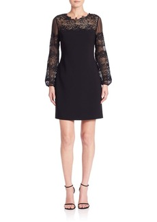 Elie Tahari Roni Lace Detail Dress