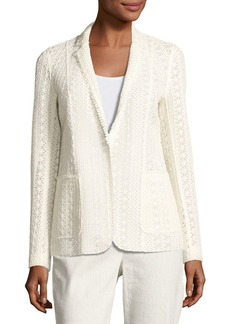 Elie Tahari Rooney Crocheted Blazer Jacket